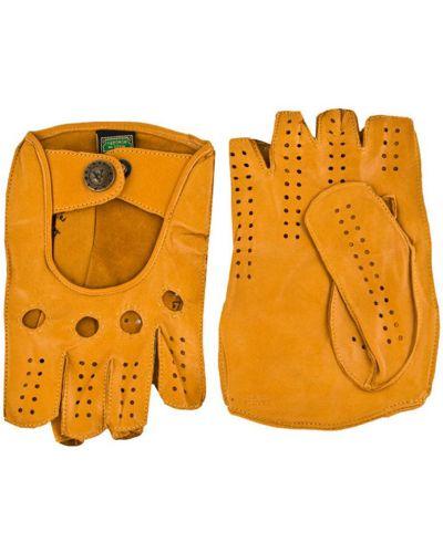 Кожаные перчатки желтый Alpa Gloves