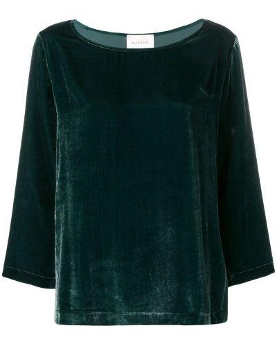 Блузка прямая зеленый Marcha