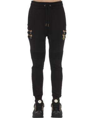 Czarne joggery z haftem Puma X Balmain
