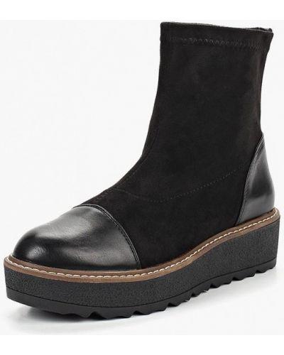 Черные полусапожки замшевые Sweet Shoes