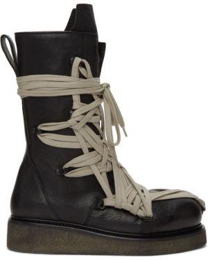 Треккинговые ботинки на шнуровке с высоким голенищем Rick Owens