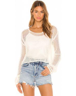 Sweter z akrylu - beżowy Wildfox Couture