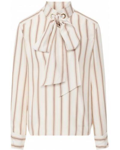 Блузка шелковая в полоску Chloé