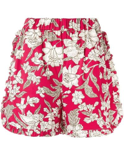 Красные шорты с оборками La Doublej
