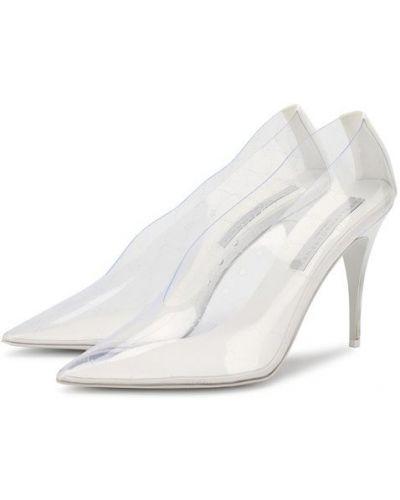 Туфли на каблуке прозрачные Stella Mccartney