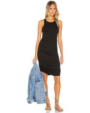 Платье в рубчик со складками Splendid