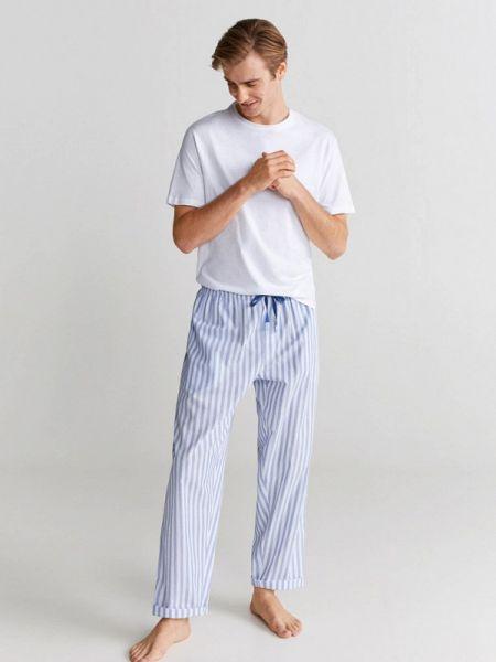 Пижама белый синий Mango Man