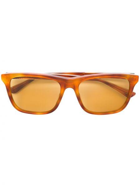 Прямые оранжевые солнцезащитные очки прямоугольные с завязками Gucci Eyewear