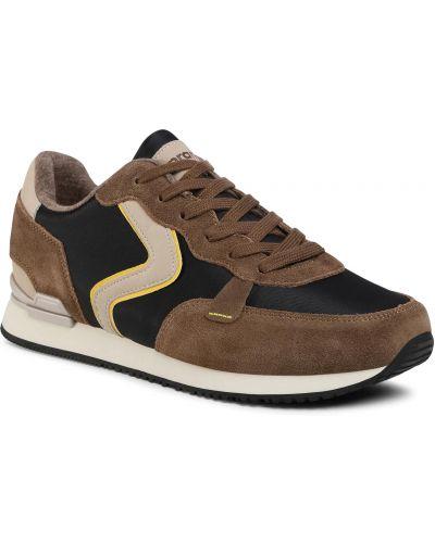 Кожаные кроссовки - коричневые Sprandi