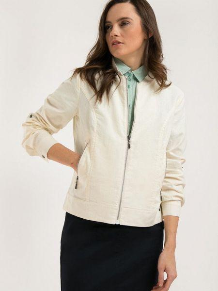 Расклешенная белая облегченная свободная куртка Finn Flare