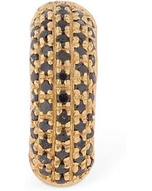 Czarne złote kolczyki ze złota z diamentem Marco Dal Maso
