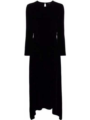 Платье миди с длинными рукавами - черное Theory