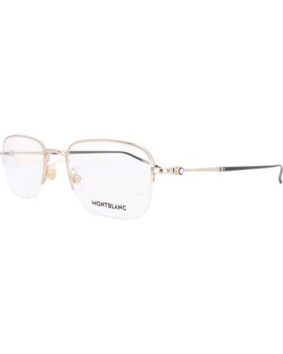 Beżowe okulary Montblanc