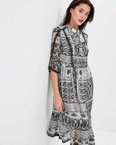 Платье серое прямое Lusio