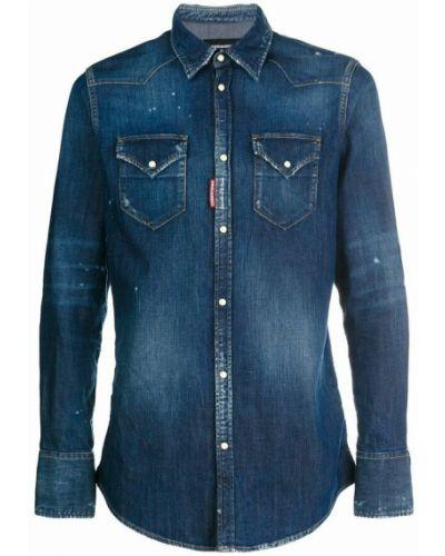 Niebieska koszula jeansowa Dsquared2