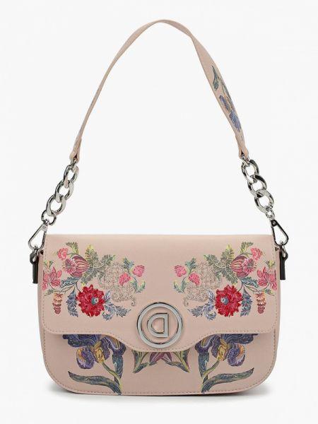 Кожаная сумка через плечо розовый Desigual