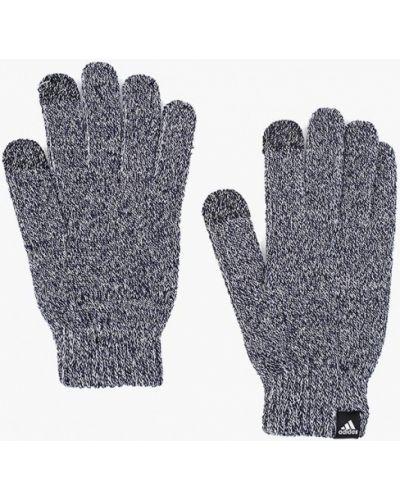 Синие перчатки текстильные Adidas