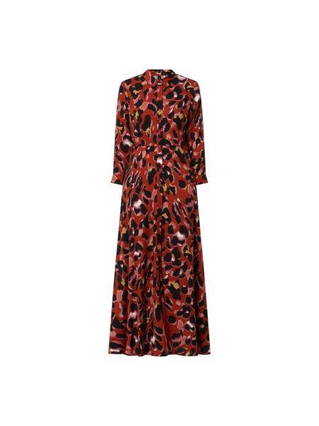 Pomarańczowa sukienka rozkloszowana z wiskozy Y.a.s