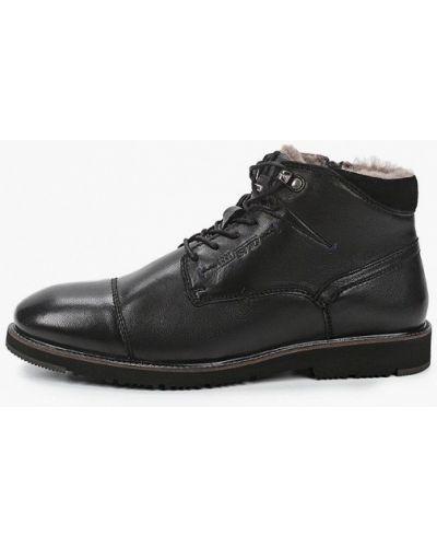 Кожаные черные ботинки Salamander