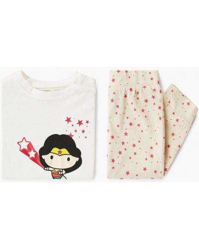 Белая пижама Mango Kids