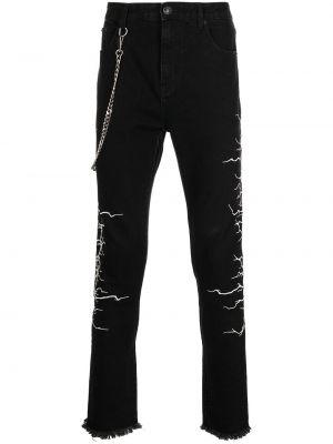 Черные хлопковые джинсы Haculla