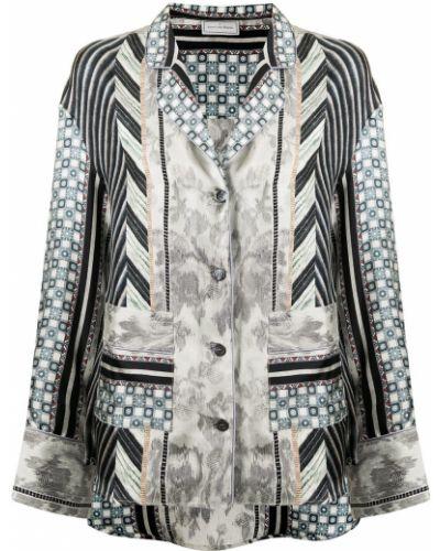 Серый пиджак длинный Pierre-louis Mascia