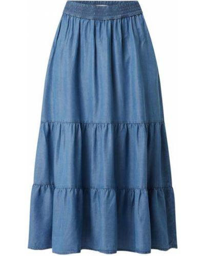 Niebieska spódnica maxi rozkloszowana Christian Berg Women