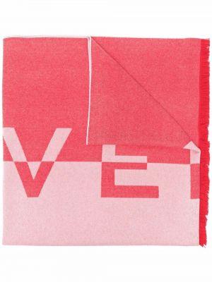 Красный шарф с логотипом Givenchy