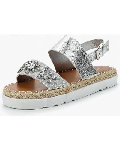 Кожаные сандалии серебряного цвета Malien