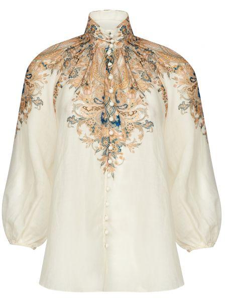 Бежевая блузка на пуговицах Zimmermann