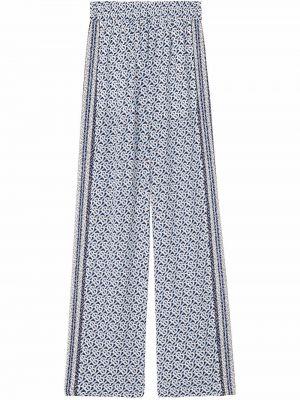 Niebieskie spodnie z printem Burberry