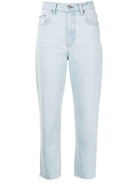 Хлопковые синие джинсы на молнии Nobody Denim