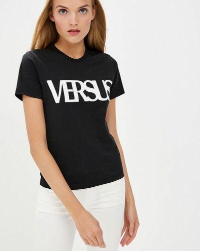Футбольная черная футболка Versus Versace