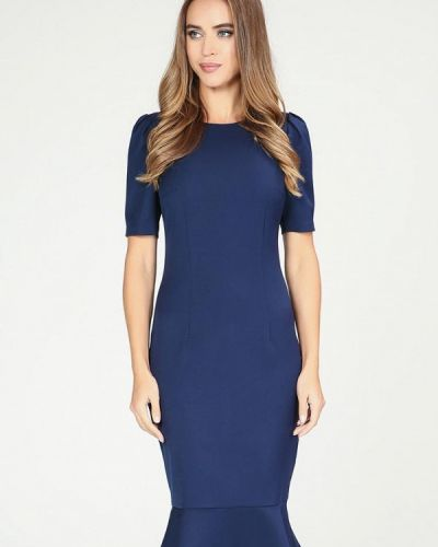 Платье осеннее синее Kotis Couture