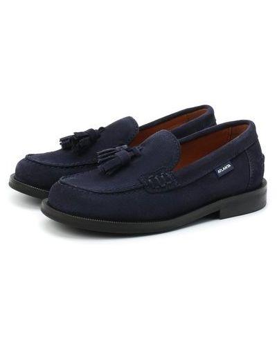 Замшевые синие туфли с подкладкой Atlanta Mocassin