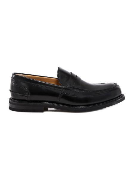 Czarne loafers Churchs
