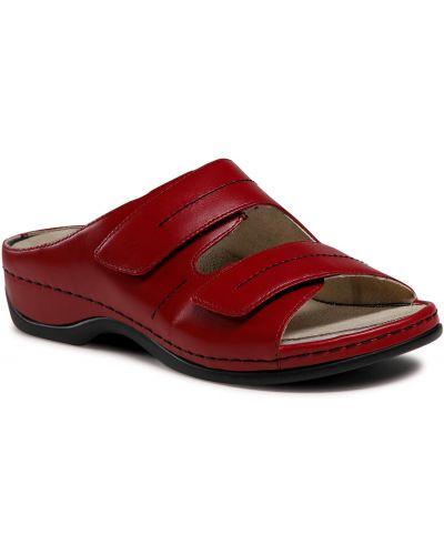 Czerwone sandały casual Berkemann
