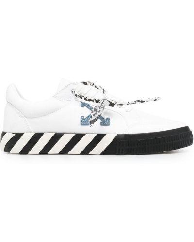 Белые кеды на шнуровке со вставками Off-white