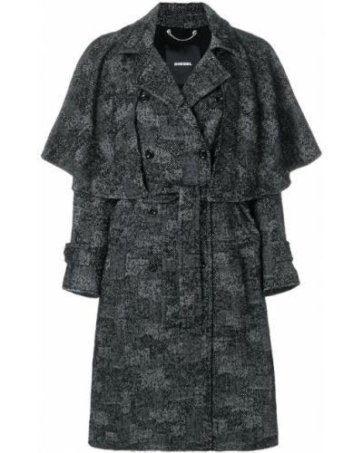 Пальто классическое пэчворк шерстяное Diesel
