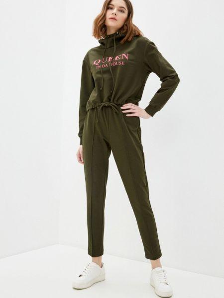 Весенний костюмный зеленый спортивный костюм Trendyangel