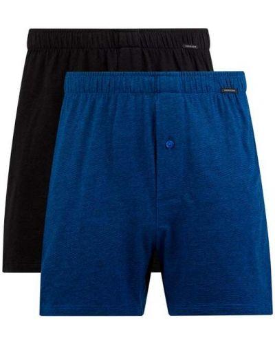 Niebieskie majtki bawełniane zapinane na guziki Schiesser