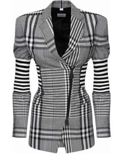 Кружевной черный пиджак в полоску Burberry
