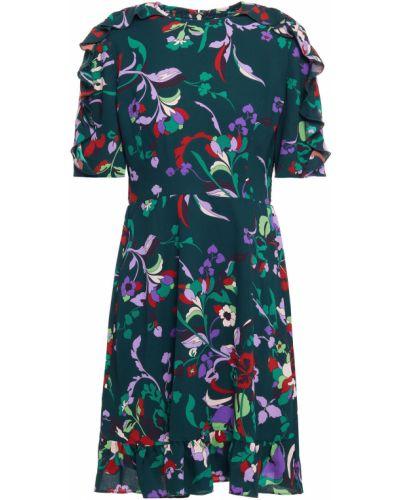 Текстильное зеленое платье мини с принтом Kate Spade New York