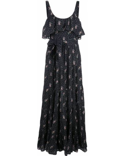 Платье макси с вырезом с оборками Paige