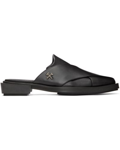 Gumowe czarne loafers kaskadowe Gmbh