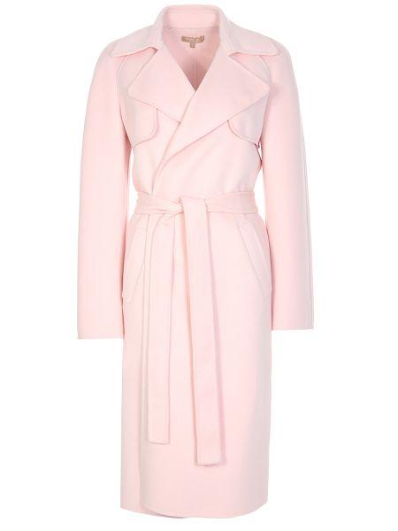Шерстяное пальто - розовое Michael Kors