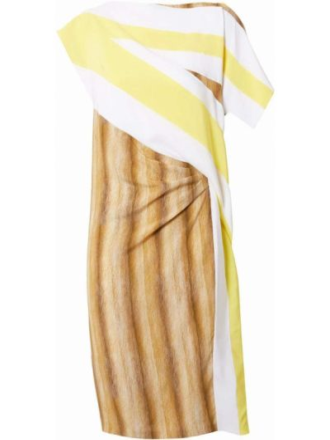 Шелковое платье мини - белое Burberry