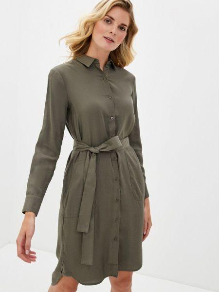 Платье платье-рубашка зеленый Incity