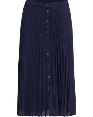 Плиссированная юбка макси на пуговицах Bonprix