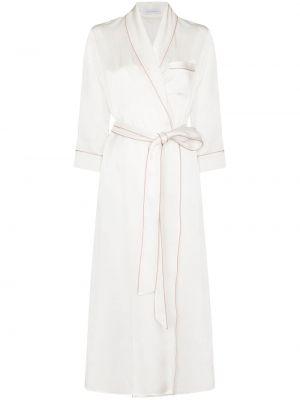 Шелковый халат - белый Olivia Von Halle